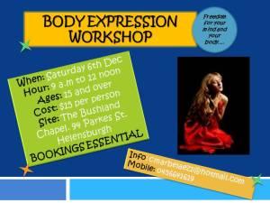 Body Expression Workshop poster